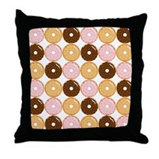 Frosted Donut Pattern Throw Pillow