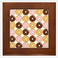 Frosted Donut Pattern Framed Tile