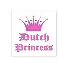 "Funny Princess Square Sticker 3"" x 3"""