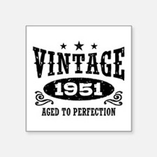 "Vintage 1951 Square Sticker 3"" x 3"""
