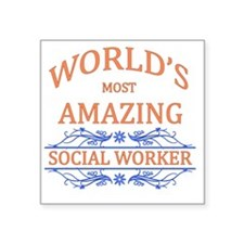 """Social Worker Square Sticker 3"""" x 3"""""""