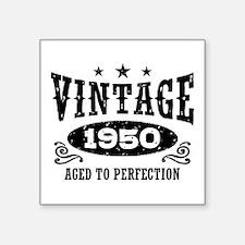 "Vintage 1950 Square Sticker 3"" x 3"""