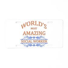 Social Worker Aluminum License Plate