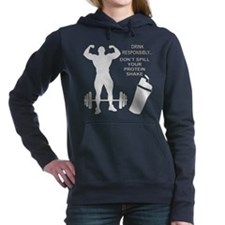 Don't Spill Your Protein Women's Hooded Sweatshirt