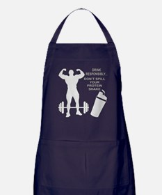 Don't Spill Your Protein Apron (dark)