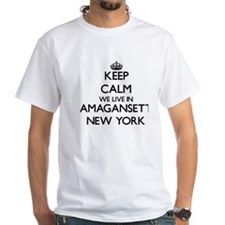 Keep calm we live in Amagansett New York T-Shirt