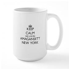 Keep calm we live in Amagansett New York Mugs
