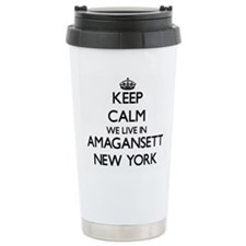 Keep calm we live in Am Travel Mug