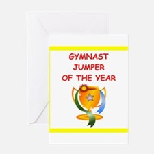 gymnast Greeting Cards