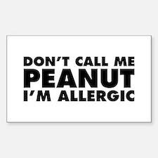 Don't Call Me Peanut Sticker (Rectangle 10 pk)