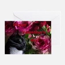 Romantic kitty Greeting Cards