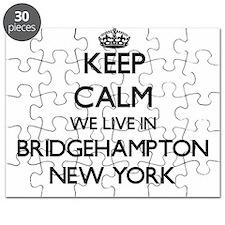 Keep calm we live in Bridgehampton New York Puzzle