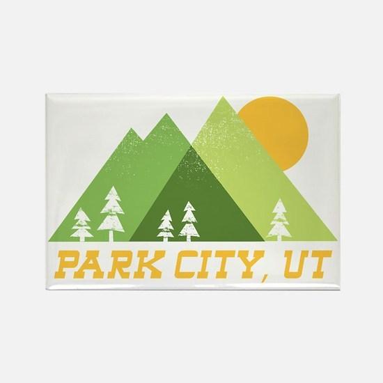 Cute Park city Rectangle Magnet