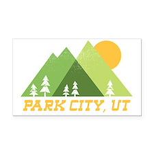 Cute Park city Rectangle Car Magnet