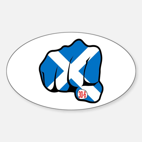 Scotland 30-6 Oval Decal
