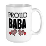 Proud BABA (2) Large Mug