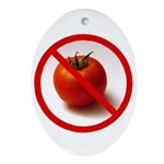 Jesus hates Tomatoes Oval Ornament