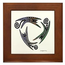Unique Cat design Framed Tile