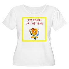 zip line Plus Size T-Shirt