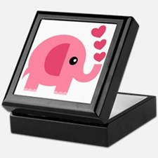Funny Cute elephant Keepsake Box