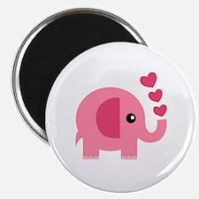 Cute Pink elephant Magnet