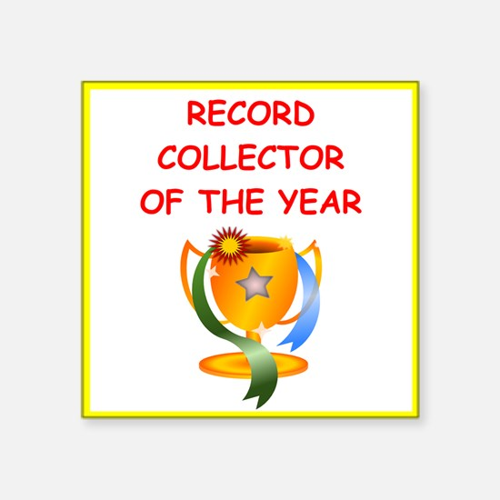 record collector Sticker