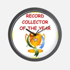 record collector Wall Clock