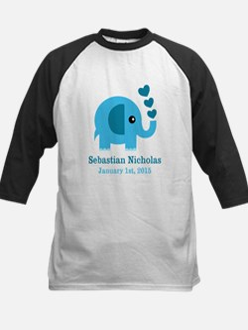 Blue Elephant CUSTOM baby name birthdate Baseball