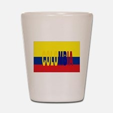 COLOMBIA FLAG WITH NAME Shot Glass