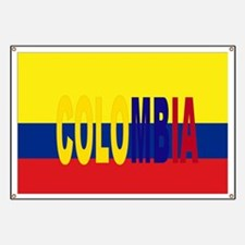 COLOMBIA FLAG WITH NAME Banner
