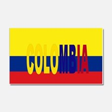 COLOMBIA FLAG WITH NAME Car Magnet 20 x 12