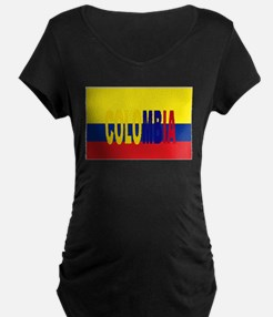 COLOMBIA FLAG WITH NAME Maternity T-Shirt