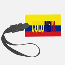 COLOMBIA FLAG WITH NAME Luggage Tag
