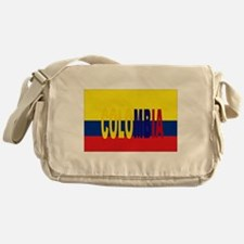COLOMBIA FLAG WITH NAME Messenger Bag