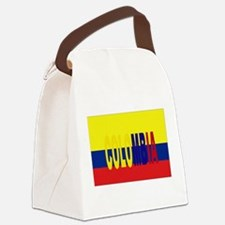 COLOMBIA FLAG WITH NAME Canvas Lunch Bag
