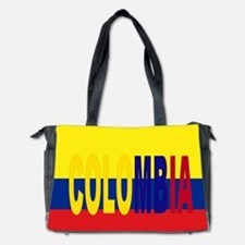 COLOMBIA FLAG WITH NAME Diaper Bag