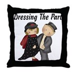 Dressing the part Throw Pillow