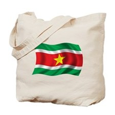 Wavy Suriname Flag Tote Bag