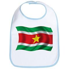 Wavy Suriname Flag Bib