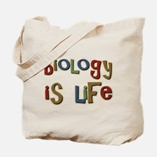 Biology is Life Pun Science Major Tote Bag