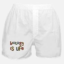 Biology is Life Pun Science Major Boxer Shorts