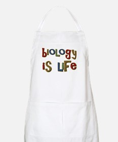 Biology is Life Pun Science Major BBQ Apron