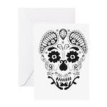 Skull decorative Greeting Cards