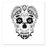Skull decorative Square Car Magnet 3