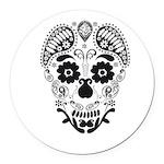 Skull decorative Round Car Magnet