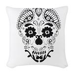 Skull decorative Woven Throw Pillow
