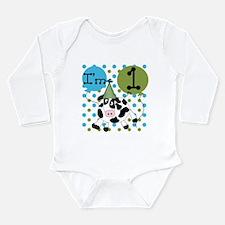 Cute Farm 1st birthday Long Sleeve Infant Bodysuit