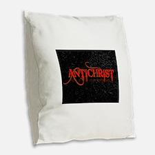 antichrist Burlap Throw Pillow