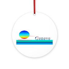 Genevieve Ornament (Round)
