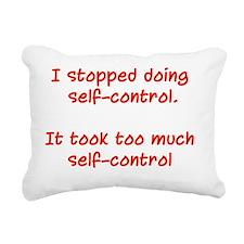 Self Control Rectangular Canvas Pillow